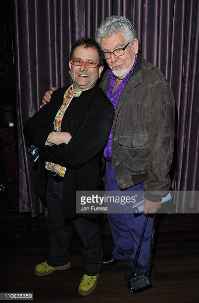 Timmy Mallett and Rolf Harris attend 'The Umbrellas of Cherbourg' Theatre Press Night after party at Studio Valbonne on March 22 2011 in London...