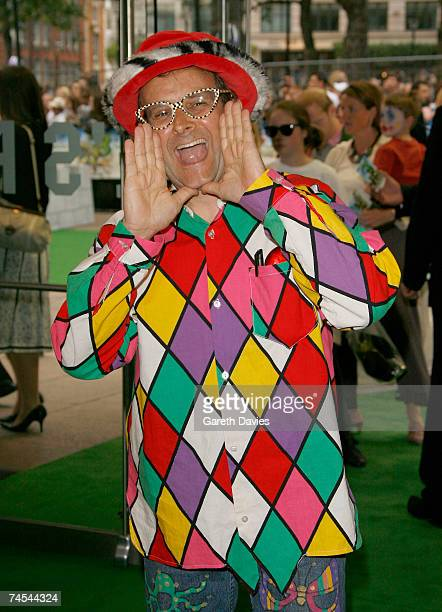 Timmy Mallett arrives for the premiere of 'Shrek The Third' at the Odeon Leicester Square on June 11 2007 in London England