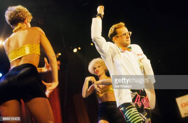 Timmy Mallett Dawn Andrews Annie Dunkley Bombalurina Diamond Awards Festival Sportpaleis Antwerpen Belgium 1990
