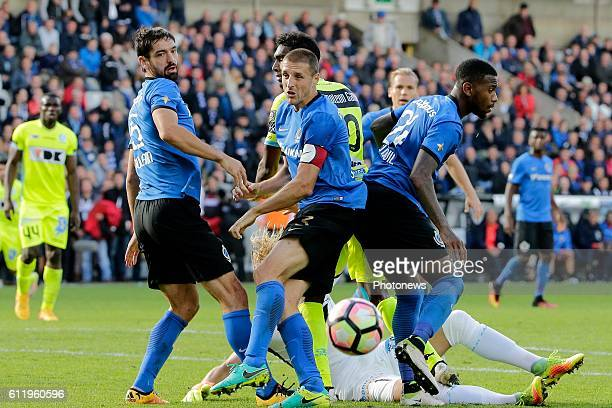 Timmy Simons midfielder of Club Brugge pictured during Jupiler Pro League match between Club Brugge KV and KAA Gent on OCTOBER2 2016 in Brugge Belgium