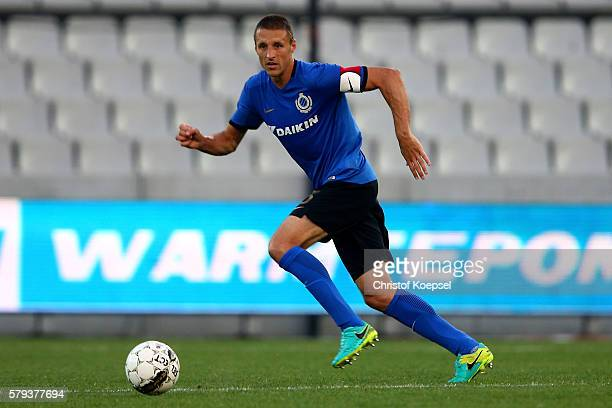 Timmy Simonsof Brugge runs with the ball during the Supercup match between Club Brugge and Standrad Liege at JanBreydelStadium on July 23 2016 in...