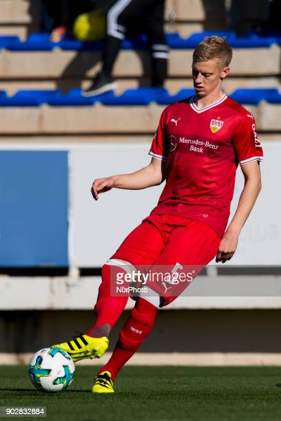 Timo Baumgartl during the friendly match between Stuttgart vs Oostende at La Manga Club Murcia SPAIN 08th January of 2018