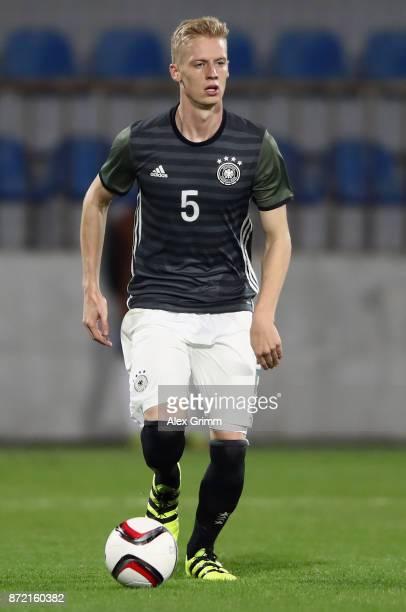 Timo Baumgartl of Germany controls the ball during the UEFA Under21 Euro 2019 Qualifier match between Azerbaijan U21 and Germany U21 at Dalga Arena...