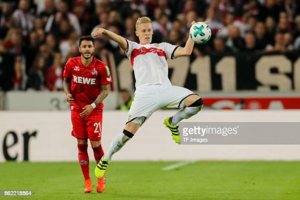 Timo Baumgartl of Stuttgart controls the ball during the Bundesliga match between VfB Stuttgart and 1 FC Koeln at MercedesBenz Arena on October 13...