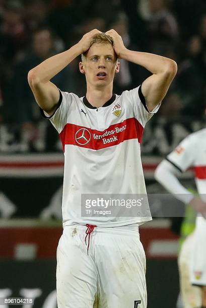 Timo Baumgartl of Stuttgart looks on during the Bundesliga match between VfB Stuttgart and FC Bayern Muenchen at MercedesBenz Arena on December 16...