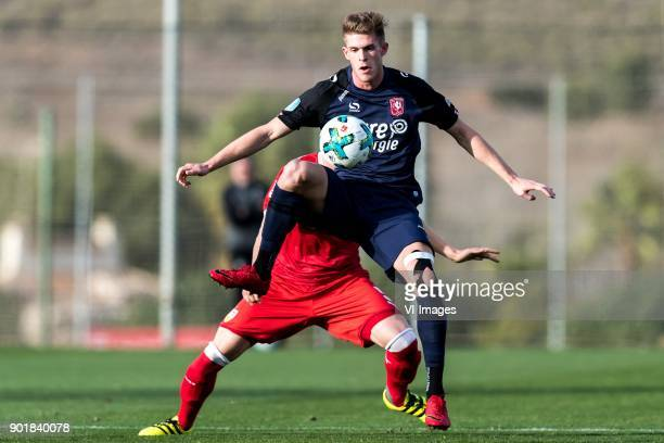 Timo Baumgartl of VFB Stuttgart Marko Kvasina of FC Twente during the friendly match between FC Twente and VFB Stuttgart at the La Manga Club Resort...