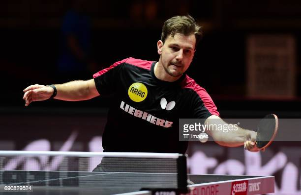 Timo Boll n in action during the Table Tennis World Championship at Messe Duesseldorf on May 29 2017 in Dusseldorf Germany