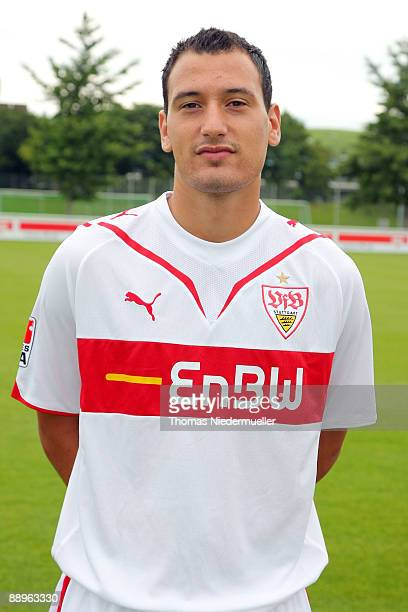 Timo Gebhart poses during the 1st Bundesliga Team Presentation of VfB Stuttgart on July 10 2009 in Stuttgart Germany