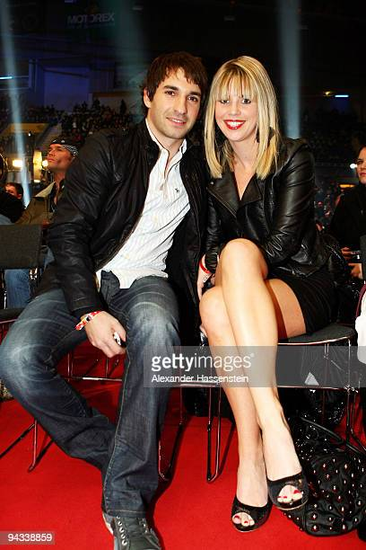 Timo Glock and Isabell Reis attend the WBC World Championship Heavyweight fight between Vitali Klitschko of Ukraine and Kevin Johnson of USA at the...
