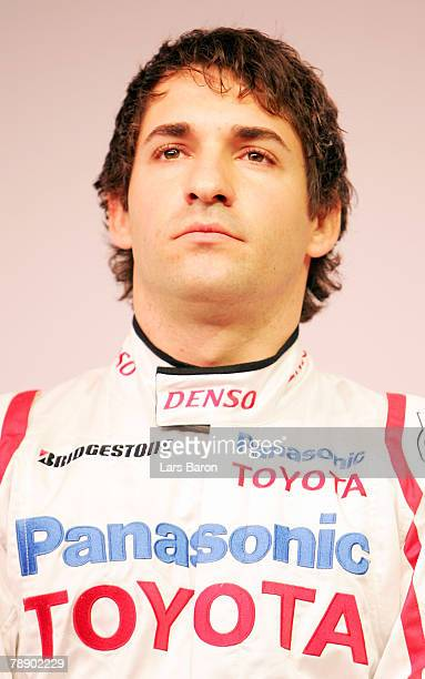 Timo Glock of Germany looks on during the Panasonic Toyota Formula One Grand Prix team launch of the TF108 race car for the 2008 season at the Toyota...