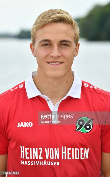 Timo Huebers of Hannover 96 poses during the team presentation at on July 14 2017 in Hanover Germany