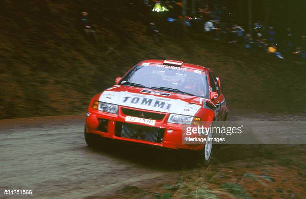 Timo Makinen in Mitsubishi Lancer Evo1999 Network Q rally 2000