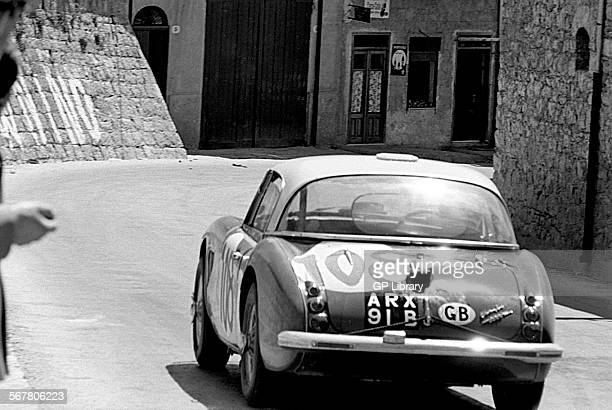 Timo MakinenPaul Hawkins' Austin Healey 3000 racing through Collesano in the Targa Florio Sicily 1965