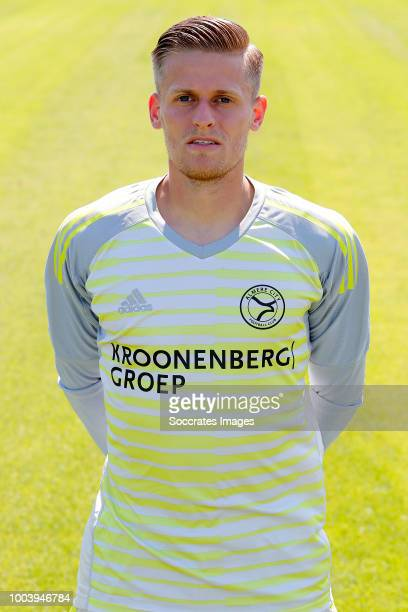 Timo Plattel of Almere City during the Photocall Almere City at the Yanmar Stadium on July 16 2018 in Almere Netherlands