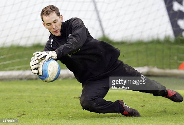 Timo Reus new goalkeeper of St.Pauli in action during the FC St.Pauli Training Session at the St.Pauli Training ground on September 4, 2006 in...