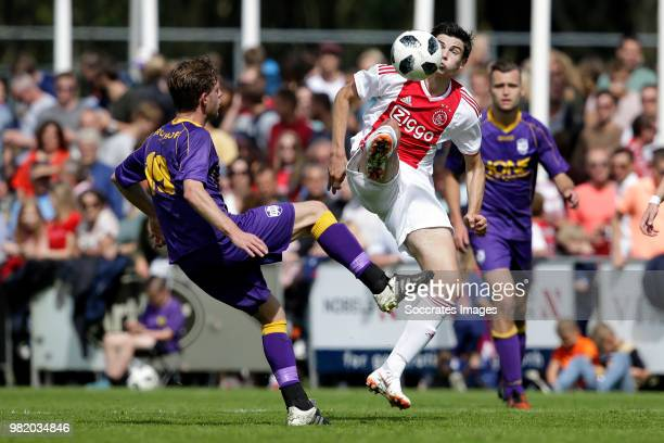 Hassane Bande during the Club Friendly match between VVSB v Ajax at the Sportpark De Boekhorst on June 23 2018 in Noordwijkerhout Netherlands