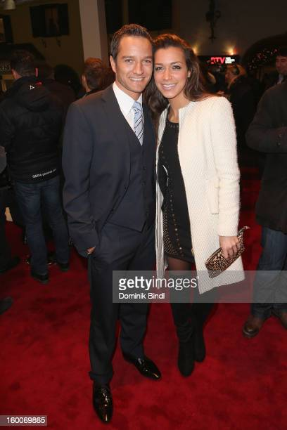 Timo Scheider and Jessica Hinterseer attend the Audi Night 2013 on January 25 2013 in Kitzbuehel Austria
