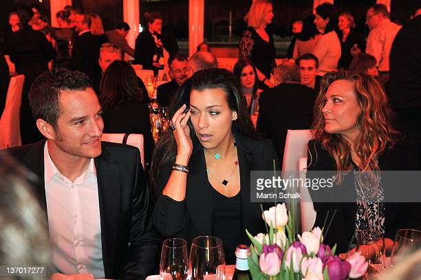 Timo Scheider Jessica Hinterseer and Romana Hinterseer attend at the Polo Players Gala Dinner on January 14 2012 in Kitzbuehel Austria