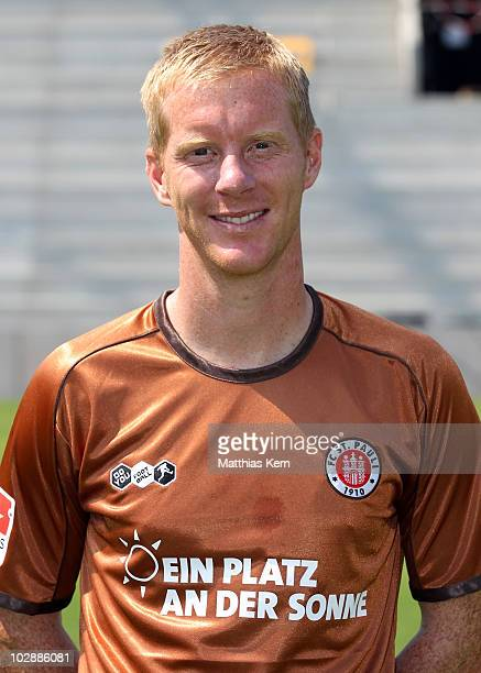 Timo Schultz poses during the FC St Pauli team presentation at Millerntor stadium on July 10 2010 in Hamburg Germany