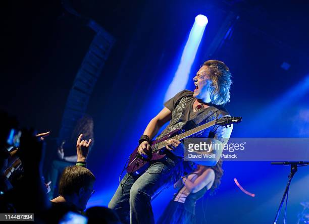 Timo Somers of Delain performs at L'Alhambra on May 21 2011 in Paris France