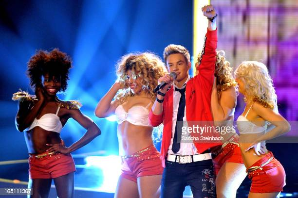 Timo Tiggeler performs during the rehearsal of the third 'Deutschland sucht den Superstar' Show at Coloneum on March 30 2013 in Cologne Germany