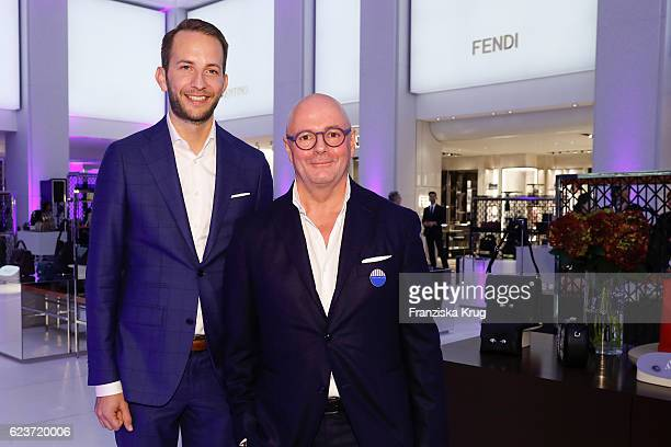 Timo Weber and Andre Maeder attend the new Luxury Hall Opening of the Alsterhaus on November 16 2016 in Hamburg Germany
