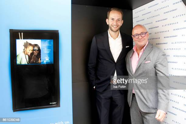 Timo Weber and Andre Maeder during the Alsterhaus Beauty Opening 'Die Neue Schönheit' on October 13 2017 in Hamburg Germany