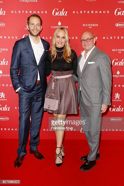 Timo Weber Anne MeyerMinnemann and Andre Maeder attend the GALA Christmas Shopping Night 2016 at Alsterhaus on December 1 2016 in Hamburg Germany