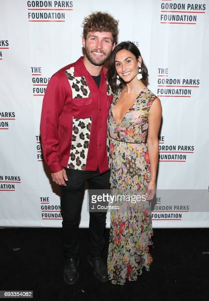 Timo Weiland and Danielle Snyder attend the 2017 Gordon Parks Foundation Awards Gala at Cipriani 42nd Street on June 6 2017 in New York City