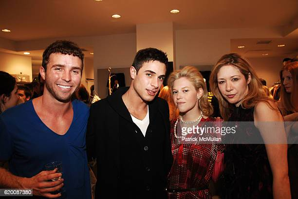 Timo Weiland, Andrew Kanakis, Emily Brill and Melissa Berkelhammer attend Celebrate Valentines Day with Patrick McMullan, Ally Hilfiger & Izzy Gold:...