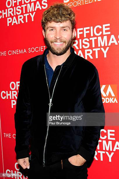 "Timo Weiland attends the Paramount Pictures with Paramount Pictures with The Cinema Society & Svedka Host a Screening of ""Office Christmas Party"" at..."