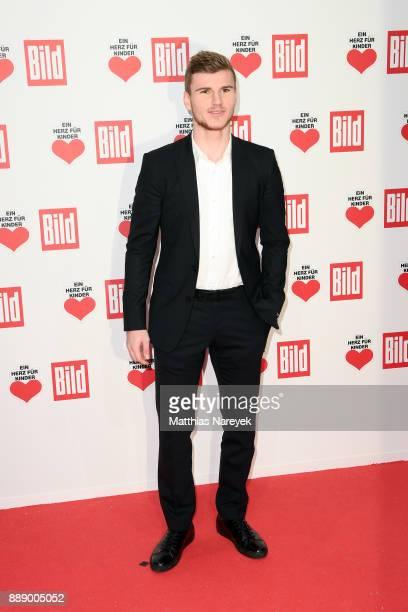 Timo Werner arrives at the Ein Herz Fuer Kinder Gala at Studio Berlin Adlershof on December 9 2017 in Berlin Germany