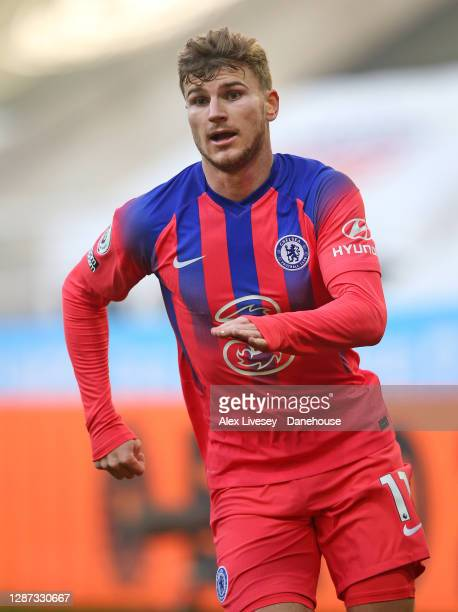 Timo Werner of Chelsea during the Premier League match between Newcastle United and Chelsea at St James Park on November 21 2020 in Newcastle upon...