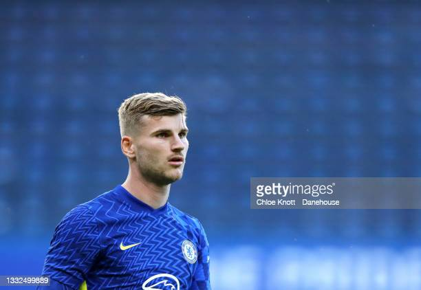 Timo Werner of Chelsea FC during the Pre Season Friendly between Chelsea and Tottenham Hotspur at Stamford Bridge on August 04, 2021 in London,...