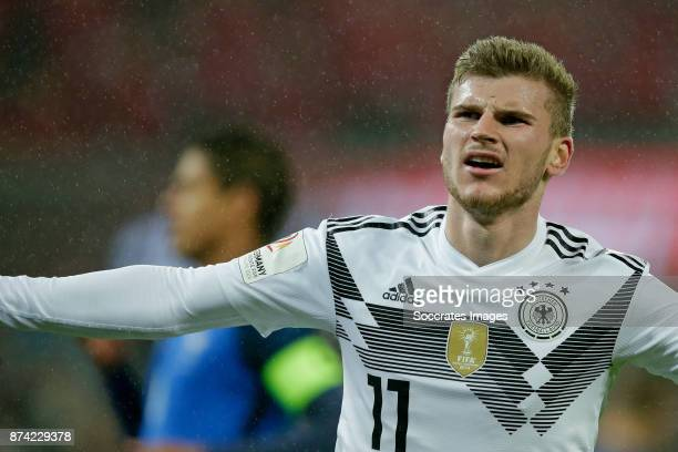 Timo Werner of Germany celebrates 11 during the International Friendly match between Germany v France at the RheinEnergie Stadium on November 14 2017...