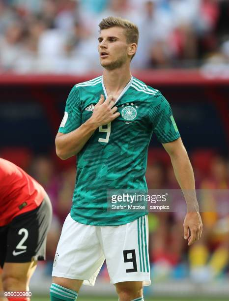 Timo Werner of Germany during the 2018 FIFA World Cup Russia group F match between Korea Republic and Germany at Kazan Arena on June 27 2018 in Kazan...