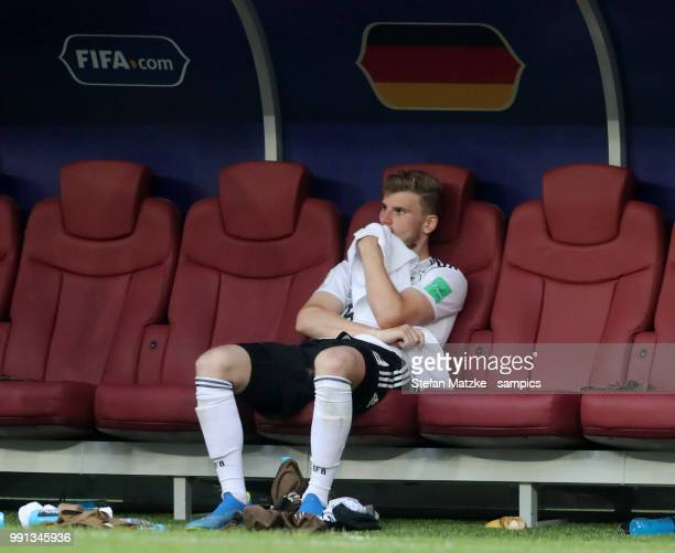Timo Werner of Germany during the 2018 FIFA World Cup Russia group F match between Germany and Mexico at Luzhniki Stadium on June 17 2018 in Moscow...