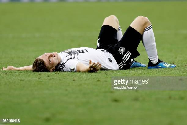 Timo Werner of Germany is seen during the 2018 FIFA World Cup Russia Group F match between Germany and Sweden at the Fisht Stadiumin Sochi Russia on...