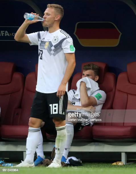 Timo Werner of Germany Joshua Kimmich of Germany during the 2018 FIFA World Cup Russia group F match between Germany and Mexico at Luzhniki Stadium...