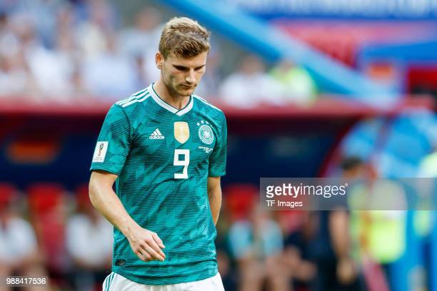 Timo Werner of Germany looks on during the 2018 FIFA World Cup Russia group F match between Korea Republic and Germany at Kazan Arena on June 27 2018...