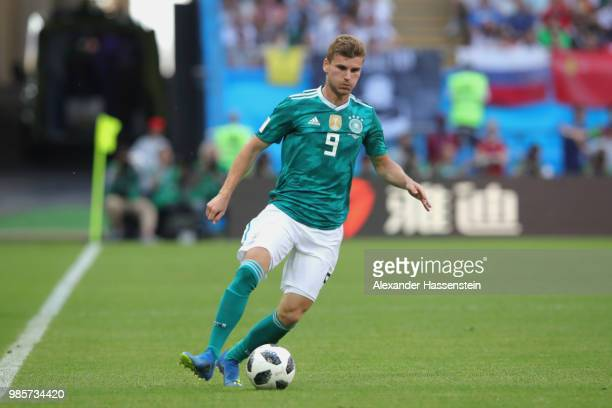 Timo Werner of Germany runs with the ball during the 2018 FIFA World Cup Russia group F match between Korea Republic and Germany at Kazan Arena on...