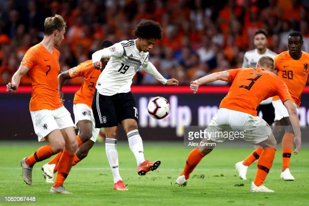 Timo Werner of Germany takes on Matthijs de Ligt of the Netherlands during the UEFA Nations League A group one match between Netherlands and Germany...