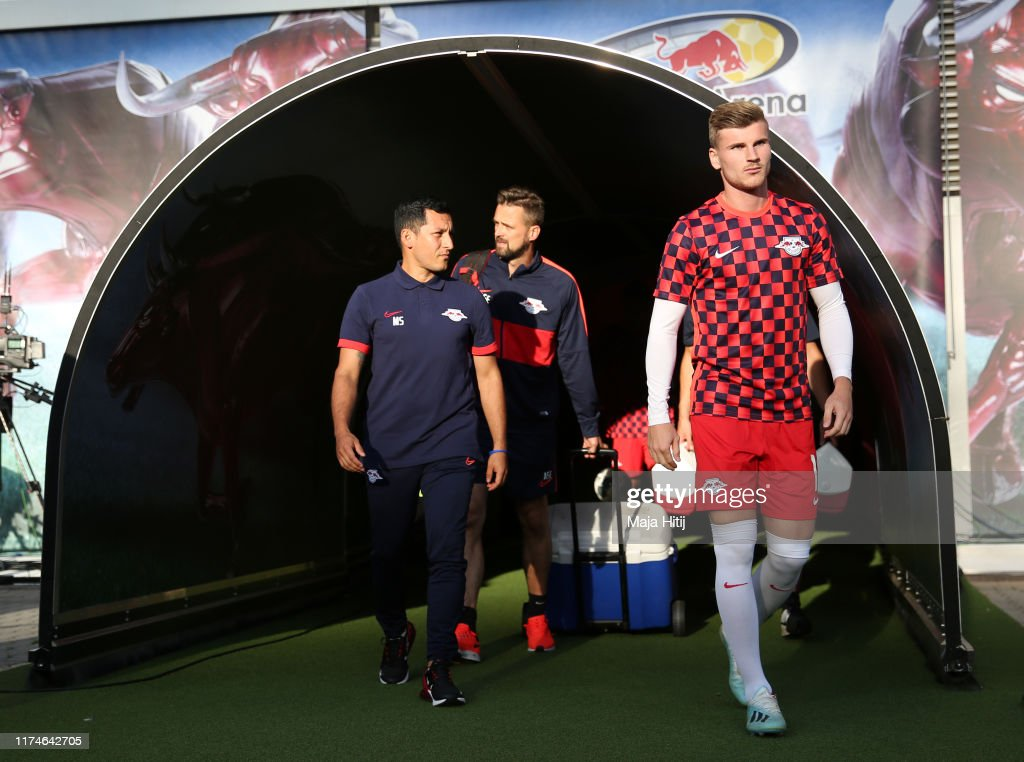 Timo Werner Of Rb Leipzig Walks Out Of The Tunnel To Warm Up Prior To News Photo Getty Images
