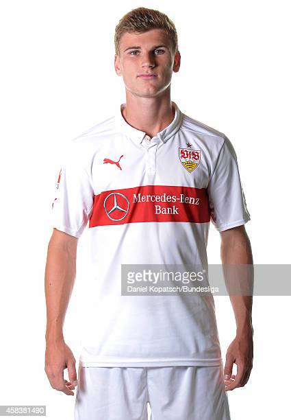 Timo Werner poses during the VfB Stuttgart Media Day on July 24 2014 in Stuttgart Germany