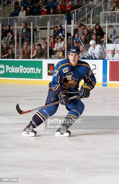 Timofei Shishkanov of the Peoria Rivermen skates against the Toronto Marlies at Ricoh Coliseum on February 3 2006 in Toronto Ontario Canada The...