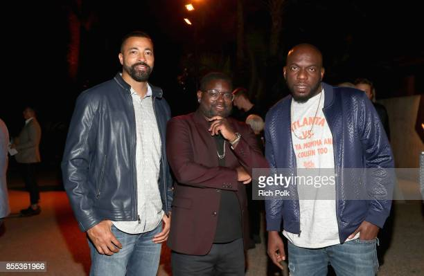 Timon Kyle Durrett Lil Rel Howery and Omar Dorsey at the Men's Fitness Game Changers event at Goldstein Residence on September 28 2017 in Beverly...