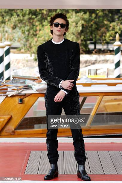 Timothée Chalamet arrives at the 78th Venice International Film Festival on September 03, 2021 in Venice, Italy.
