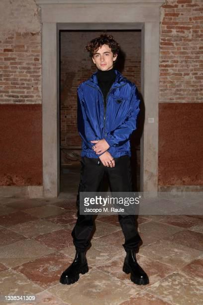 Timothée Chalamet attends Miu Miu Women's Tales Dinner during 78 Venice Film Festival on September 04, 2021 in Venice, Italy.