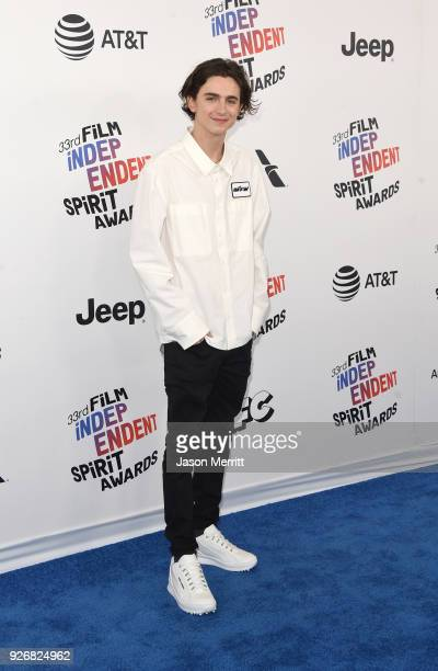 Timothée Chalamet attends the 2018 Film Independent Spirit Awards on March 3 2018 in Santa Monica California