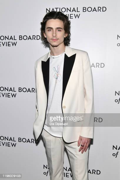 Timothée Chalamet attends the 2020 National Board Of Review Gala on January 08, 2020 in New York City.